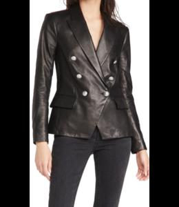 L'AGENCE Kenzie Leather Blazer