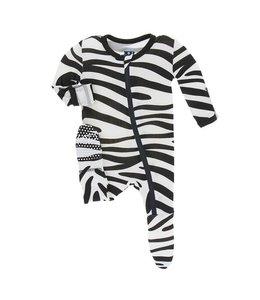 KicKee Pants Kickee Pants Natural Zebra Zip Sleeper
