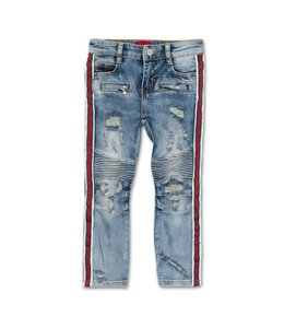HAUS OF JR HAUS OF JR Clayton Striped Biker Denim Size 3