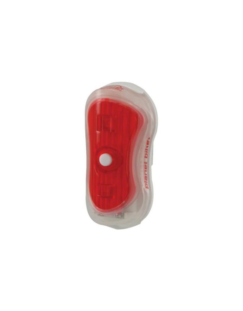 LIGHT RR RED Planet Bike Superflash Turbo Mini Taillight: White