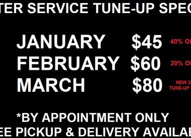 WINTER SERVICE SPECIAL - SAVE 40% ON BASIC TUNE-UP