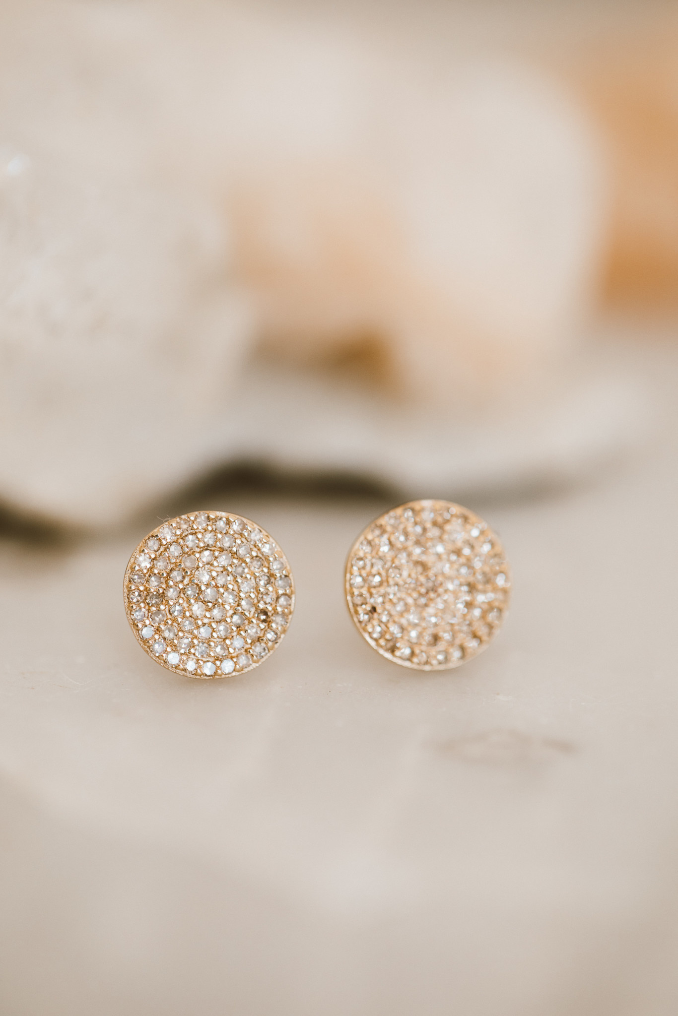 01f50495a2d Large Round Pave Diamond Studs 14kyg