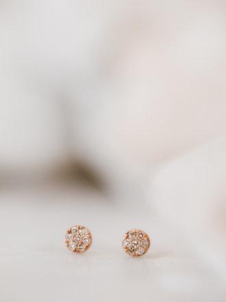 266c6194e Sarah O Dainty Round Pave Diamond Studs 14krg