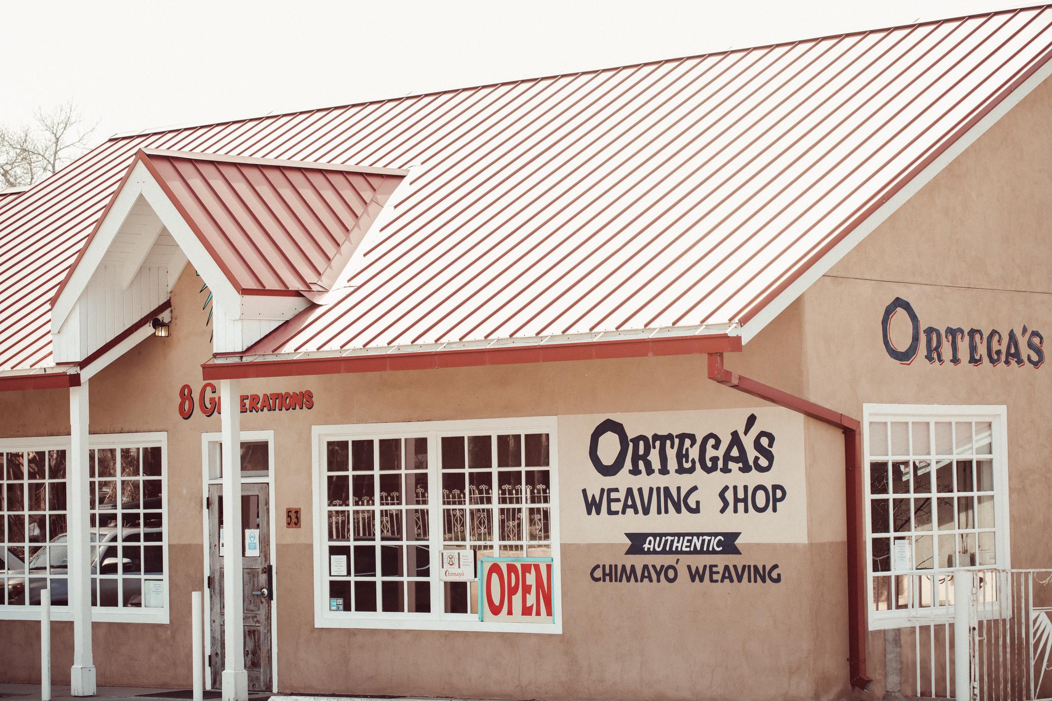 The Ortega's weaving shop