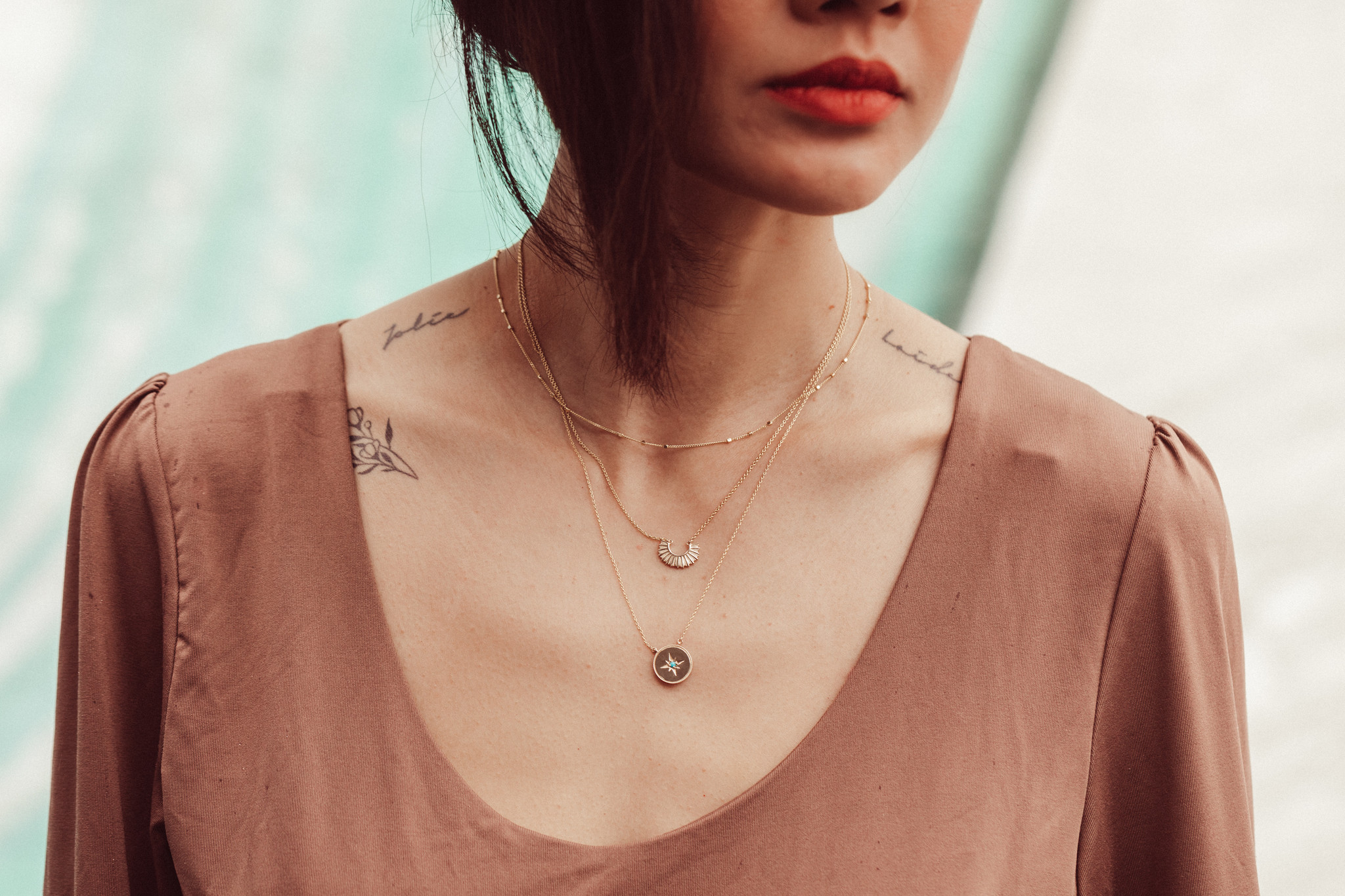 necklace styling