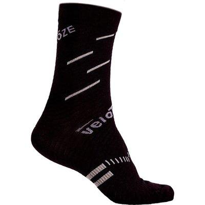 Velotoze Sock Merino Black/Grey L/XL