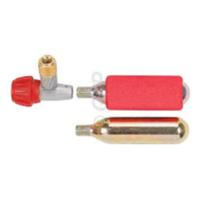 Co2 INFLATOR KIT with 2 x 16g Threaded Cartridges, Precision Body with Air Control Knob, Insulator Sleeve, AV & FV
