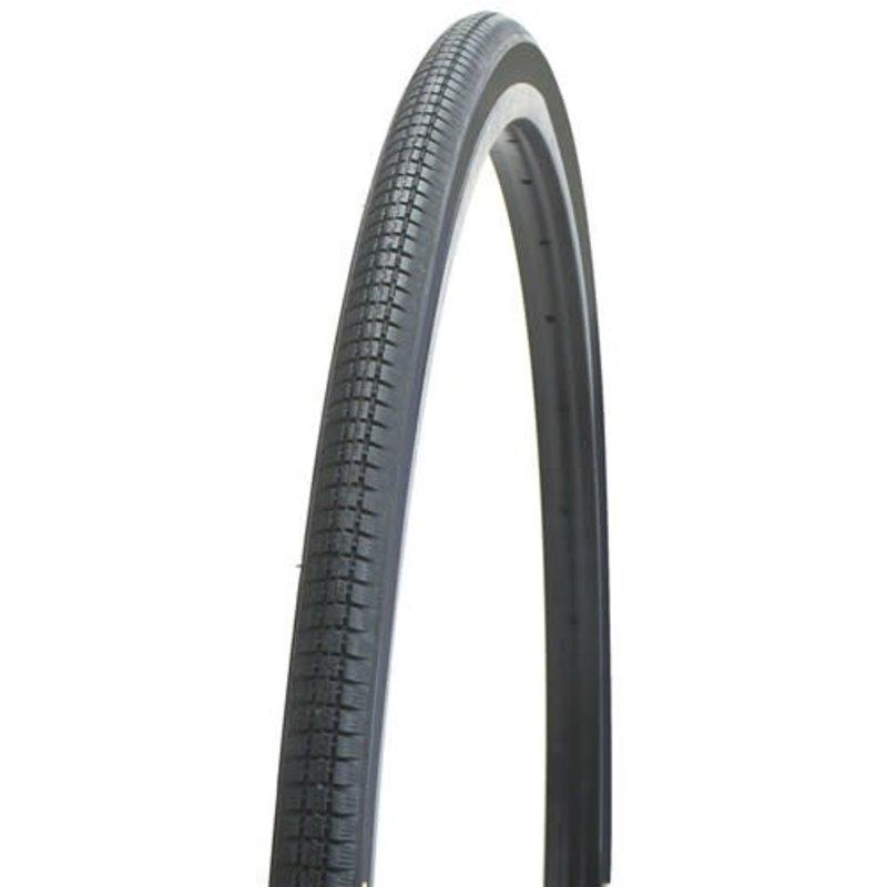 Bikecorp TYRE 27x1-1/4 ALL BLACK BLOCK TREAD