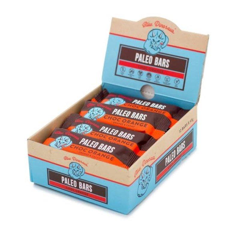 BLUE DINOSAUR **BLUE DINO PALEO BARS CHOC ORANGE 45G