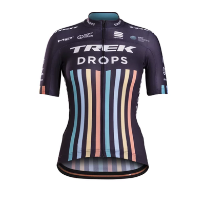 Trek Jersey Sportful Trek-Drops Replica Women X-Large Purple/Green