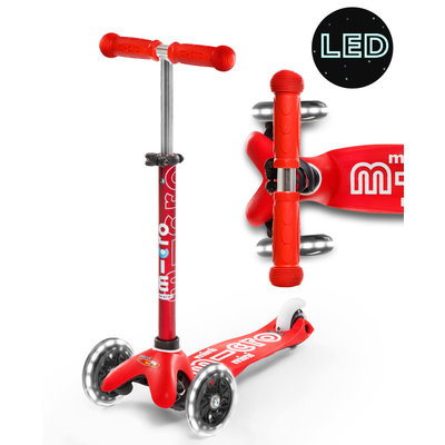 Micro Micro Mini Red Deluxe Led Wheels