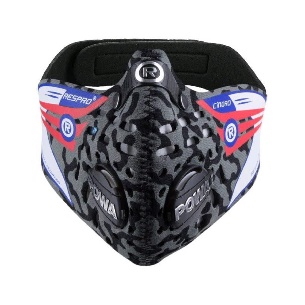 RESPRO CINQRO MASK WITH HEPA & COMBI FILTER GREY CAMO M