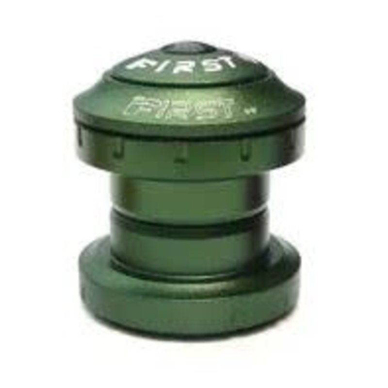 HEADSET - 1 1/8 Threadless Headset, 36 x 45 Degrees, 28.6 x 34 x30mm, Sealed Bearing, Alloy, Anodized GREEN