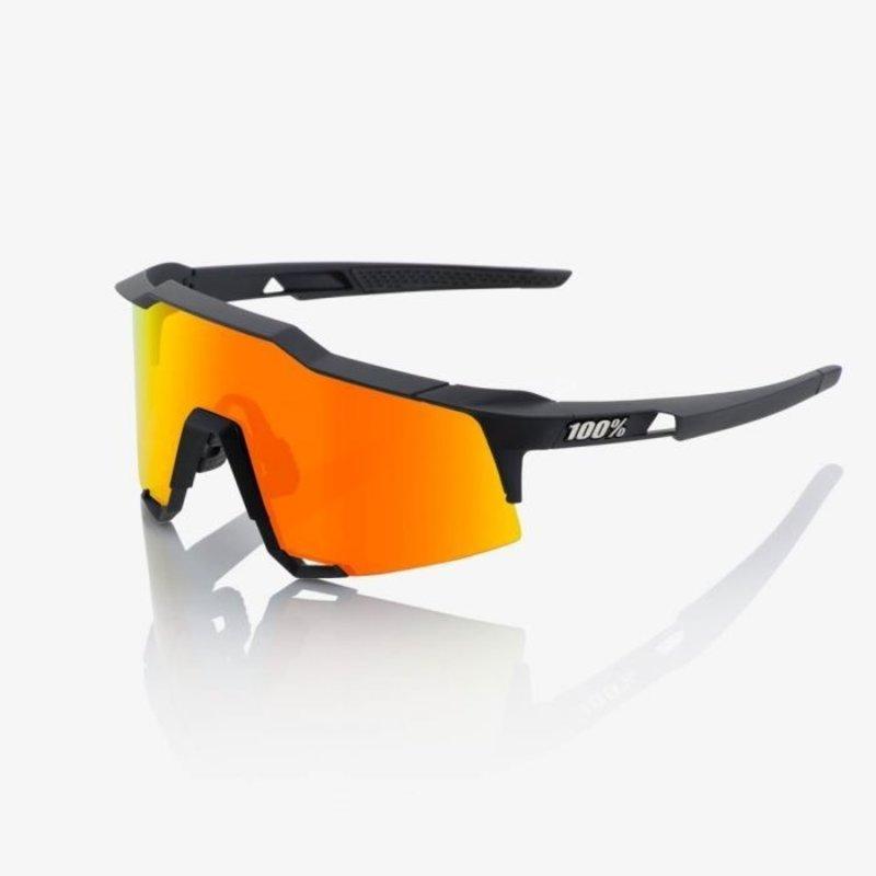 100% 100% Speedcraft - Soft Tact Black - HiPER Red Multilayer Mirror Lens