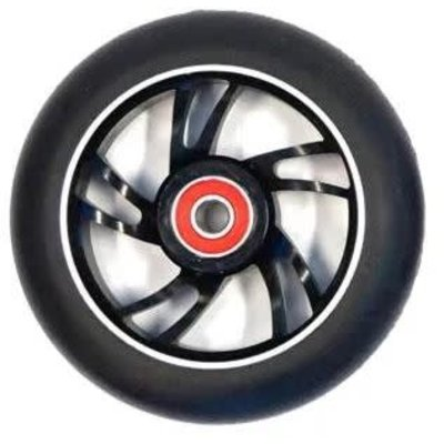 BULLETPROOF Scooter Wheel, Alloy, 100mm incl abec-9 bearing, BLACK core