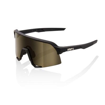 100% 100% S3 - Soft Tact Black - Soft Gold Lens