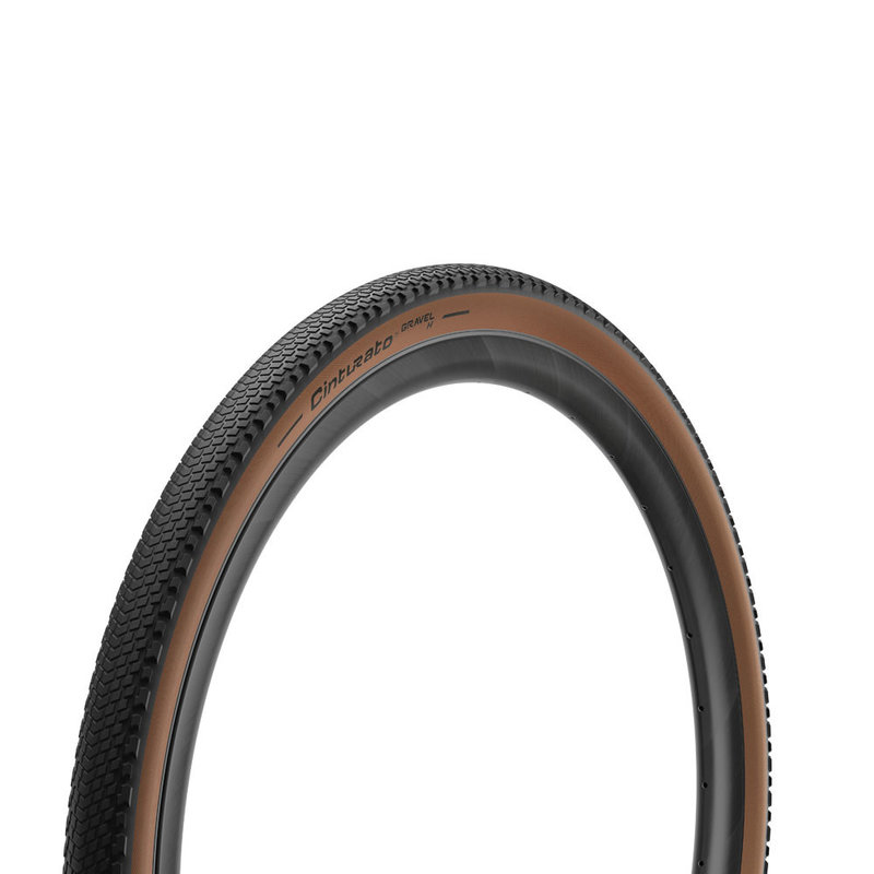 PIRELLI CINTURATO GRAVEL CLASSIC (700X45C) HARD PACK TYRE FOLDING TAN WALL