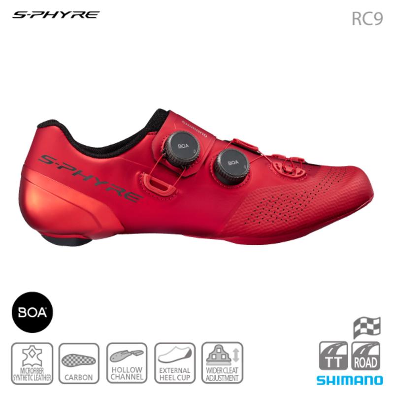 Shimano Shimano SH-RC902 ROAD SHOES RED 45E