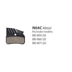 Shimano BR-M9120 METAL PAD w/FIN & SPRING w/SPLIT PIN N04C