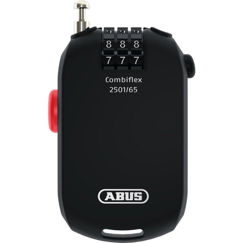 ABUS ABUS COMBIFLEX 2501 - 65CM BLACK 3 DIGIT CODE