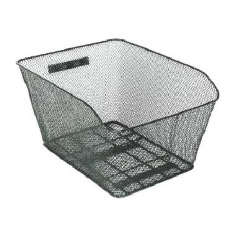 BASKET - Rear, Fixed with Fittings, Black, 41cm x 33cm x 25cm