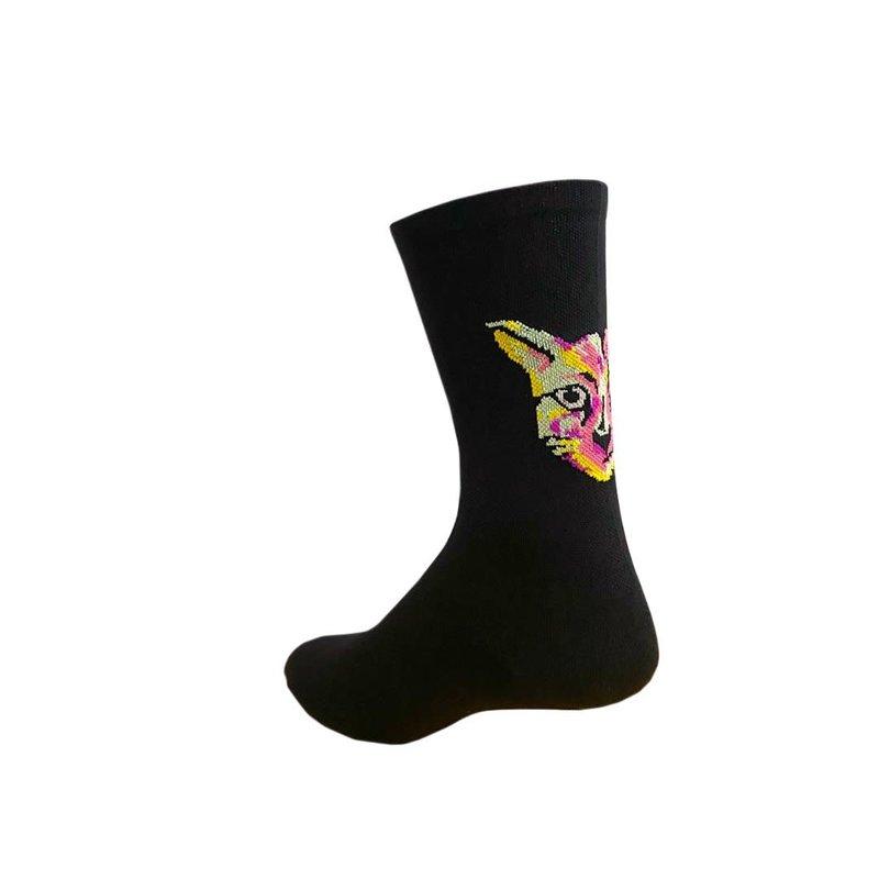PEDAL MAFIA Pedal Mafia Artist Series Sock - PARI - Techno Cat