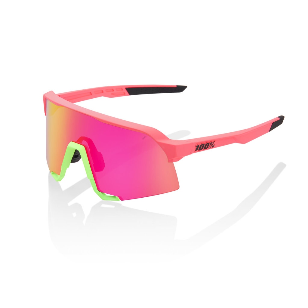 100% 100% S3 - Matte Washed Out Neon Pink - Purple Mirror
