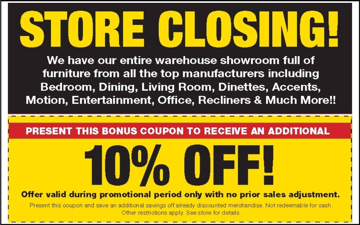 Going Out of Business Furniture Liquidation