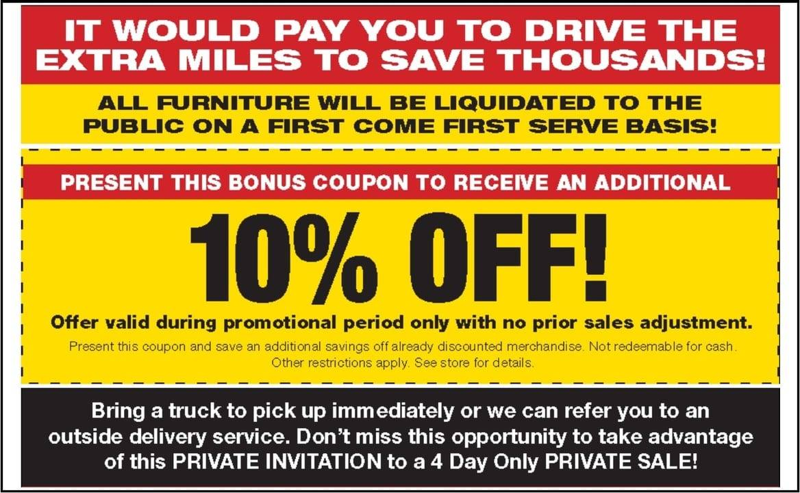 Going Out of Business Furniture Liquidation TheFind