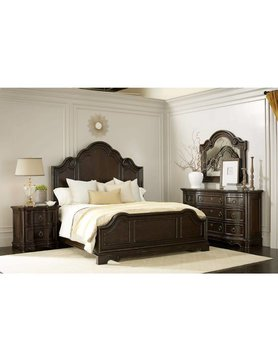 ART Furniture 402000KCS-2107DISC ART Bella King Bed Malbec 5PC Set(KB,D,M,2N)CLEARANCE