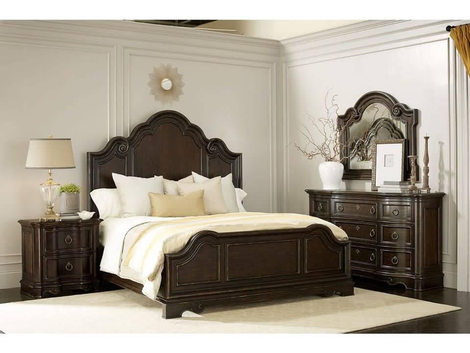 ART Furniture 402000KCS-2107DISC ART Bella King Bed Malbec 5PC Set(KB,D,M,2N)CLEARANCE