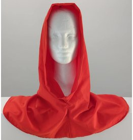 Cloak and Dagger Creations H169 Orange Red Hooded Cowl, Large
