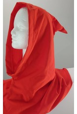Cloak and Dagger Creations H169- Hood in Red-Orange, Lightweight, with Pointed Hood