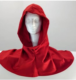 Cloak and Dagger Creations H172 -Hood in Rusty Red Wool Blend, Lightweight