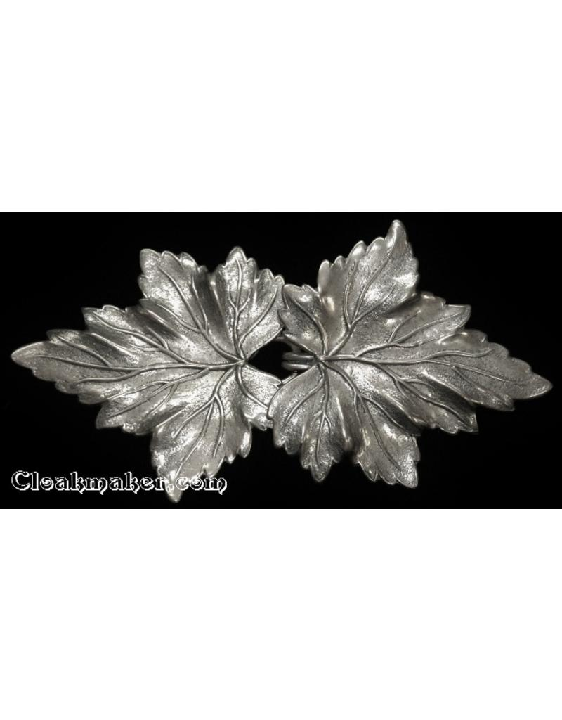 Cloak and Dagger Creations Thimbleberry Cloak Clasp - Silver Tone Plated