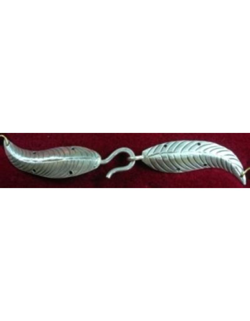 Cloak and Dagger Creations Willow Leaf Cloak Clasp - Sterling Silver