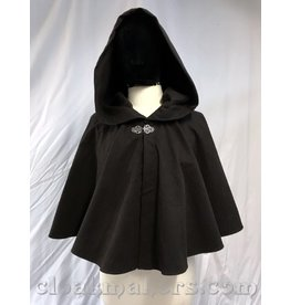 3818 - Washable Dark Brown Short Cloak with Vale Clasp