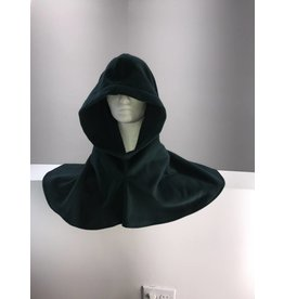 Cloak and Dagger Creations H182 - Deep Green Wool Blend Hooded Cowl