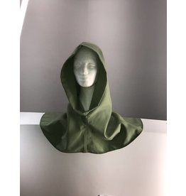 Cloak and Dagger Creations H181 - Light Green 100% Wool Hooded Cowl