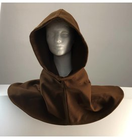 Cloak and Dagger Creations H173 - Brown Wool Hooded Cowl