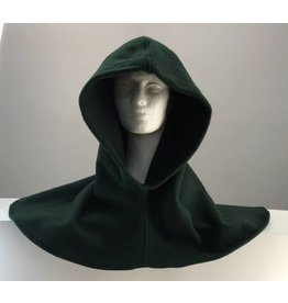 Cloak and Dagger Creations H178 - Deep Green 100% Wool Hooded Cowl