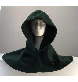 H178 - Deep Green 100% Wool Hooded Cowl
