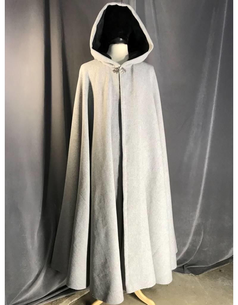 ce252d6f6c 3906 - Grey Wool Blend Full Circle Cloak