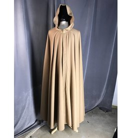 Cloak and Dagger Creations 3910 -Full Circle Cloak, Tan Wool Blend Indoor Weight