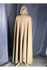 Cloak and Dagger Creations 3910 -Full Circle Cloak, Tan Wool Blend Indoor Weight, Pewter Clasp