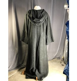 R438 - XL Dark Grey Cotton Monk Robe