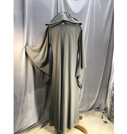 R441 - XL Heathered Grey Gandalf's Robe w/Pointed Hood, Drop Sleeves