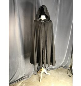 3938 - Washable Brown Full Circle Cloak, Pewter Vale Clasp