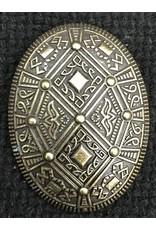 Diamond Bound Style Viking Turtle Brooch - Antique Bronze Tone - Medium