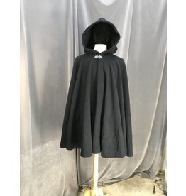 3943 - Navy Thermalpro Fleece Cloak, Pewter Vale Clasp